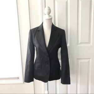 MCM Charcoal Grey Tailored Two Button Suit Blazer